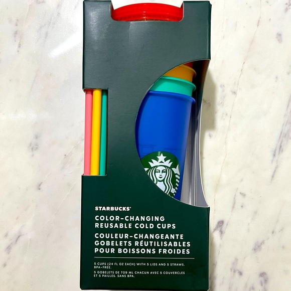 Starbucks Limited Edition Color Changing Cold Cups